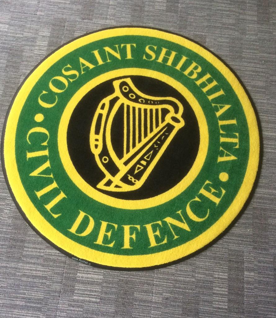 Civil Defence Logo Mat
